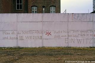 Europa, Deutschland, Berlin, Mitte, Zimmerstraße, Hinterlandmauer