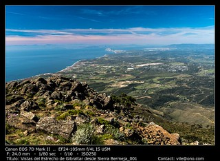 The Strait of Gibraltar from Sierra Bermeja | by __Viledevil__