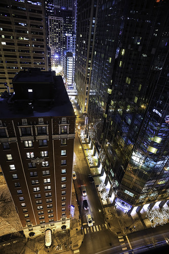 chicago illinois usa view hotelroomwindow myroomview marriothotel nightshot reflections nikon d850