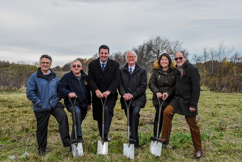 Cutting the first sod for Crowle Peatland Railway's new building | by angus.townley