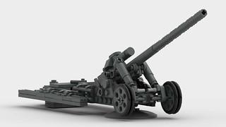 17cm K18 | 17 cm Kanone 18 Mörserlafette fire position. | Flat ...