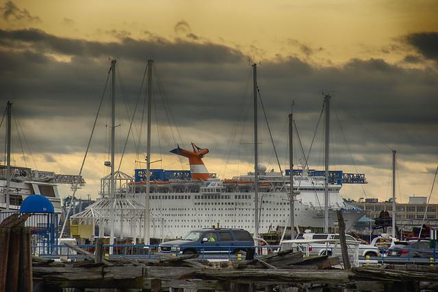 Liner Across Harbor