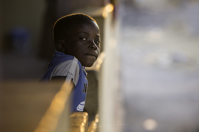 Sunset light in the market of Virei. Namibe, Angola.