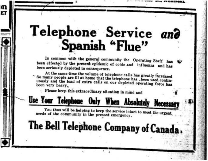 "Telephone Service and Spanish 'Flue'"" | Creator: Bell Telep"