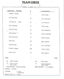 Carlisle V Middlesbrough 13-8-91 | by cumbriangroundhopper
