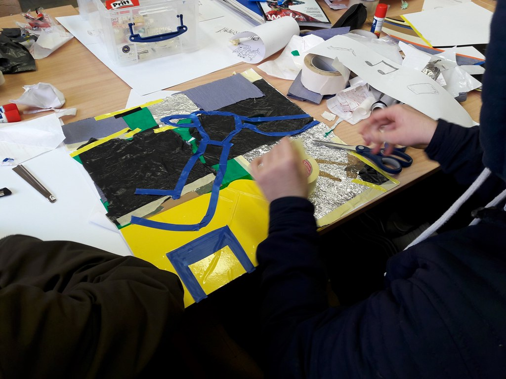 sessie 2 ateliersDKO schilderen met tape (11)
