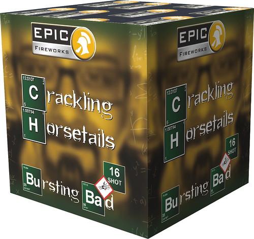 """Crackling Horsetails """"Bursting Bad Series"""" #EpicFireworks"""