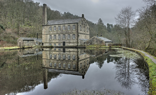 mill gibson calderdale reflection hardcastlecrags water