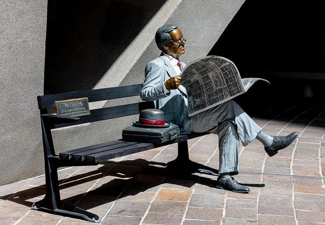 Bronze Man Waiting