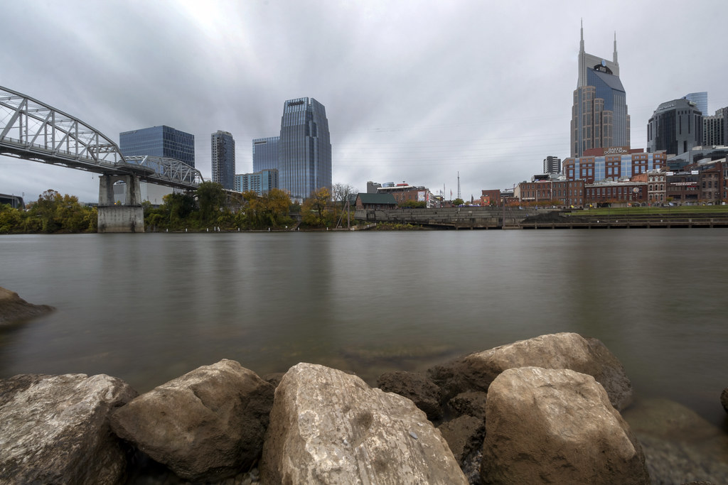 Skyline, Cumberland River, Nashville, Davidson County, Tennessee 3