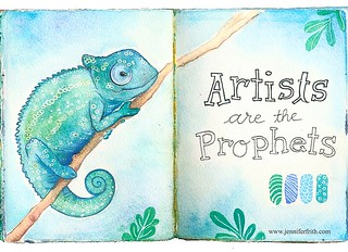 Sunday Sketchbook - Zippy the Chameleon