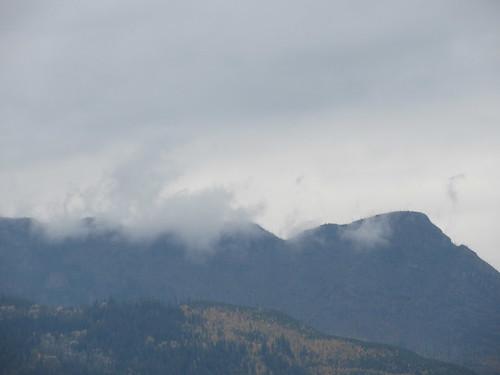 salmon arm shuswap mountain cloud bc british columbia canada