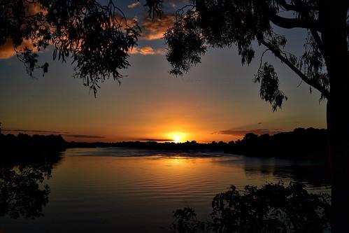 sunset riversunset sliderssunday nikon nikond7200 water tamronsp2470mmf28divcusd reflections goldensunset goldenhour bundaberg queensland australia gumtrees clouds gimp hss