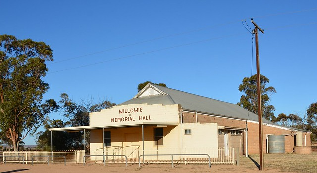 Willowie Memorial Hall built 1953, with side view of additions, Flinders Ranges South Australia