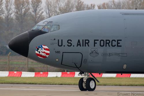 KC-135R  Stratotanker 57-1493 - 351st Air Refueling Squadron RAF Mildenhall   by stu norris