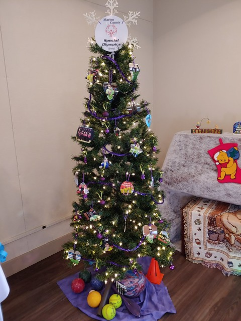 2018 Dec 5 Festival of Tables and Trees Special Olympics Tree