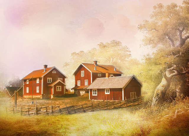 I once lived in  a village.