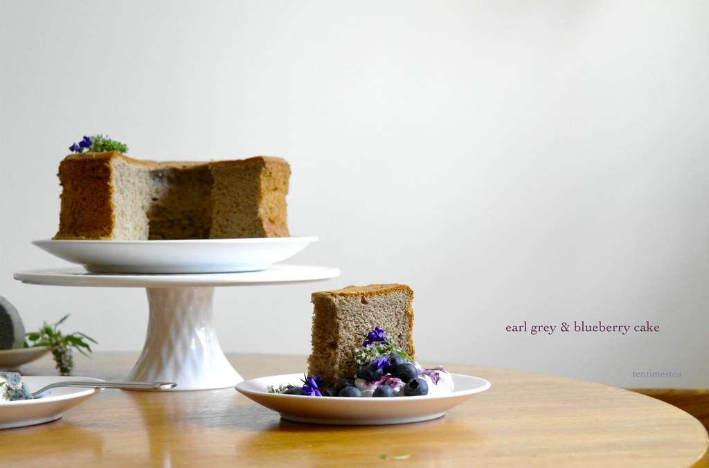 earl grey blueberry cake