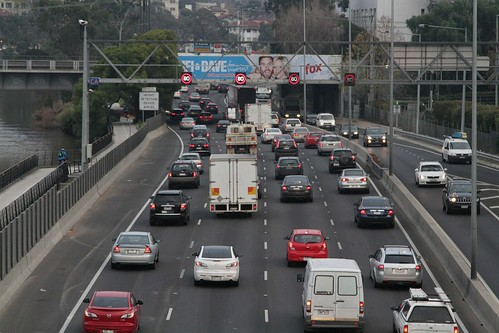 Monash Freeway citybound at Church Street