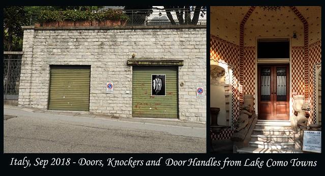ITALY SEP 2018 - Lake Como Doors and Knockers (54 & 55)B