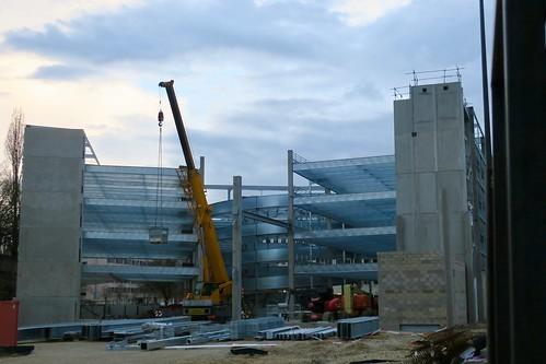 Dijon-Construction du parking Monge