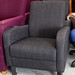 Commercial reception chair mixed fabric E110