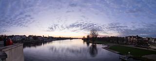 Sonnenuntergang-Neckarwiese Panorama | by HDValentin