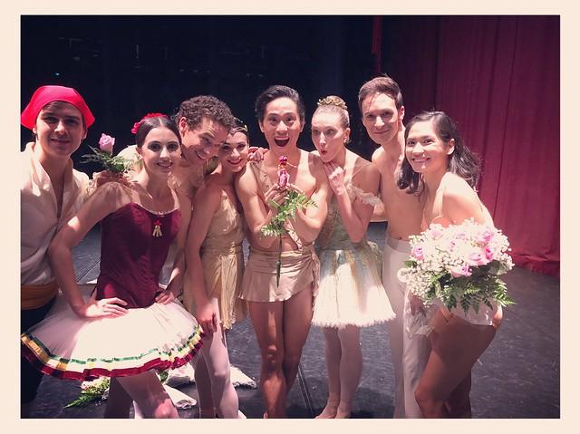 Evening of Ballet Stars - (l) Alexandros Pappajohn, Katherine Barkman, Cory Stearns, Sarah Lane, Jeffrey Cirio, Devon Teuscher, Rory Hohenstein, Christine Rocas