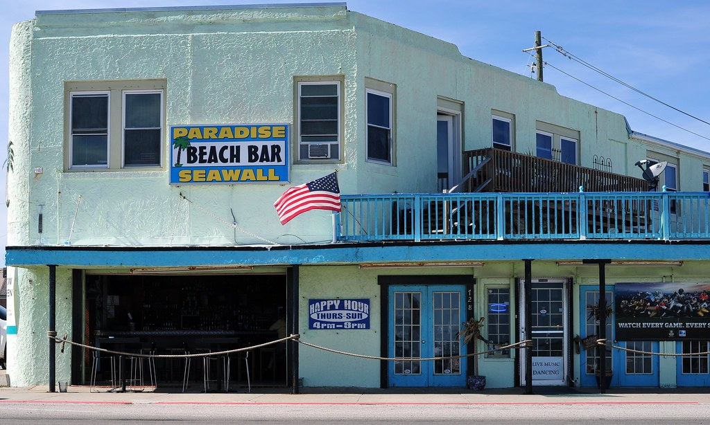 Paradise Seawall Beach Bar - Galveston.Texas