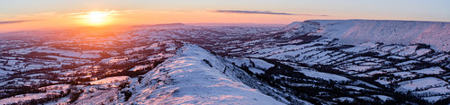 landscape catsback llanveynoe sunrise hereford england unitedkingdom gb black mountains