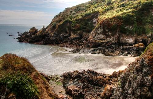 coast guernsey landscape seascape cliffs bay walk coastline britishcountryside island channelislands hdr photomatix