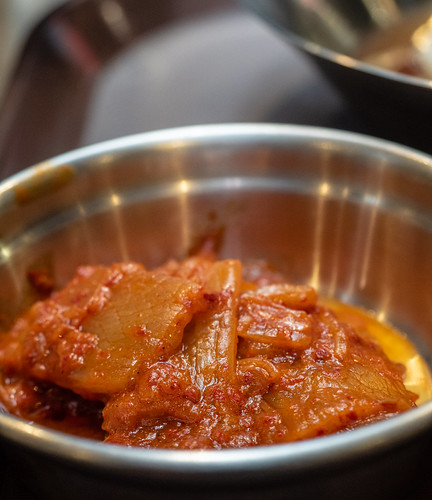 Kimchi side dish at Apple Samgyupsal Korean Barbeque Restaurant, Jaya One. | by huislaw