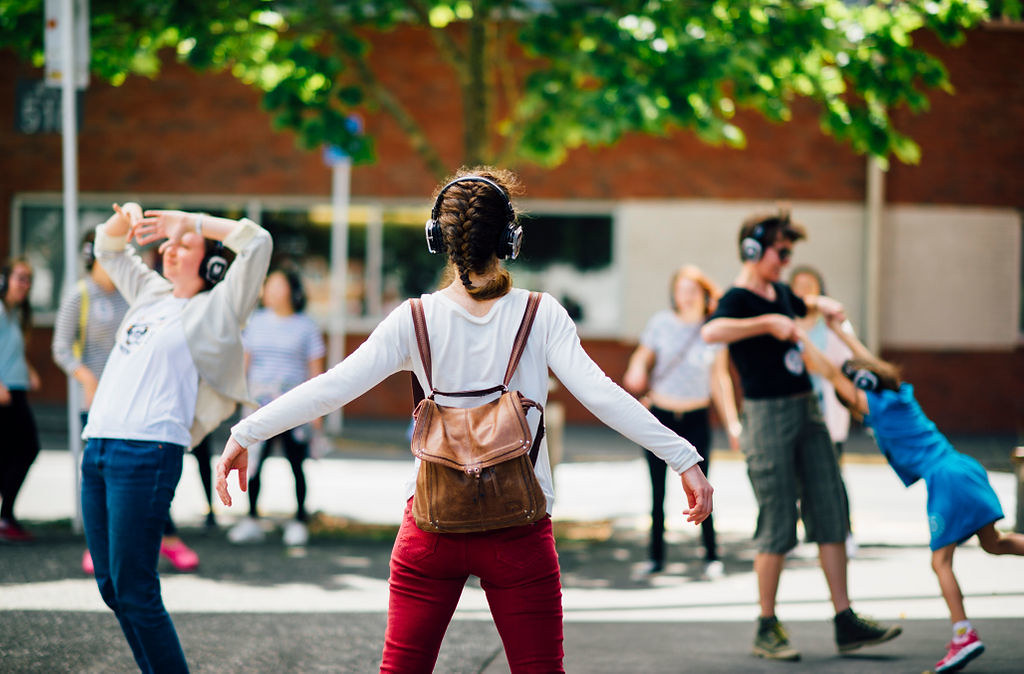 Dance Therapy with wireless headphones Auckland