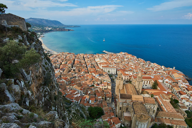 Cefalu from above