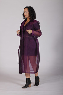 Purple Organza Trench Coat | by juliadiamente