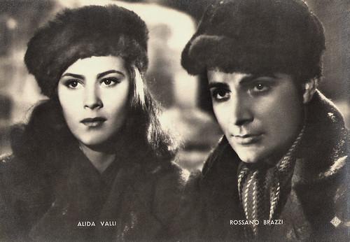 Alida Valli and Rossano Brazzi in Noi Vivi (1942)