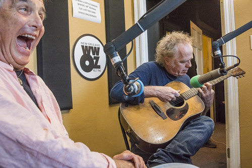 Spencer Bohren and Jimmy Robinson at WWOZ's 38th birthday - 12.4.18. Photo by Ryan Hodgson-Rigsbee rhrphoto.com.