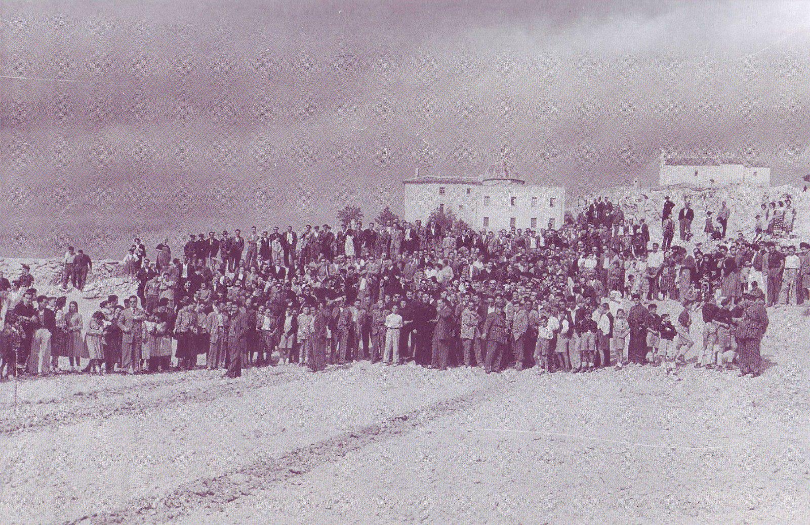 (Año 1955) - ElCristo - Fotografias Historicas - Concurso de arados, Avenida de Salinetas (03)