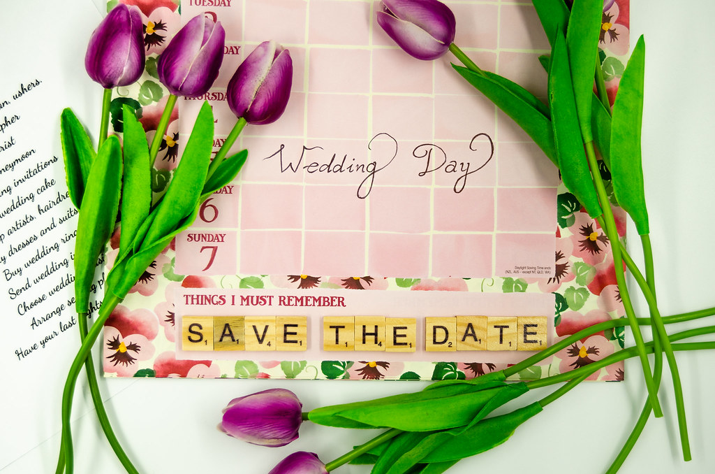 Save the Date for the Wedding! | Save the date depicted with… | Flickr