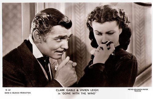 Vivien Leigh and Clark Gable in Gone with the wind (1939)