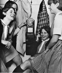 Girls before cell phones in 1966 at Academy of the Sacred Heart in Clifton, OH