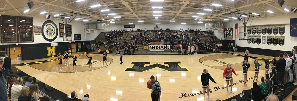 Milan High School Gym- 2018 | Home of the Milan Indians sinc