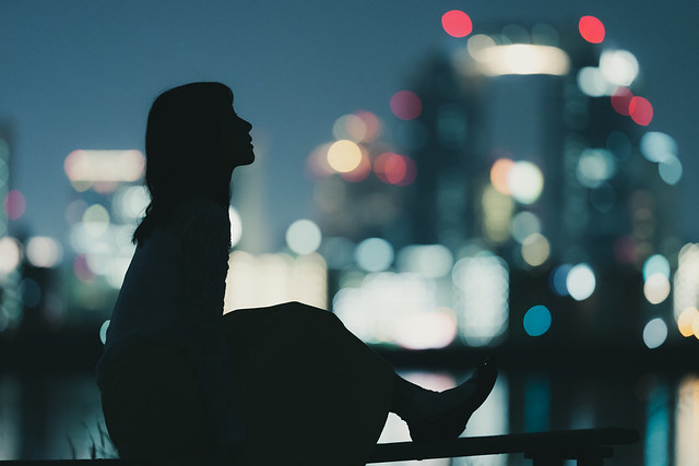 Silhouette and the city