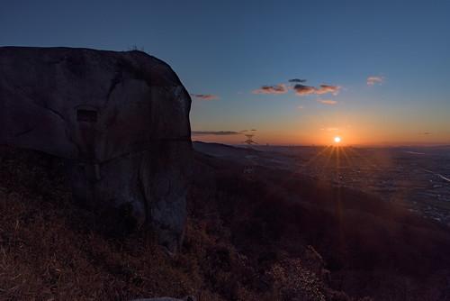 japan 大阪府 交野市 交野山 山 mountain 夕景 sunset