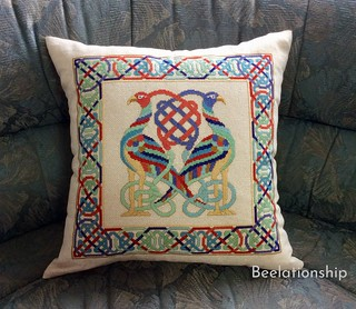 Celtic Twins Brids Cushion | by Beelationship Embroidery Studio