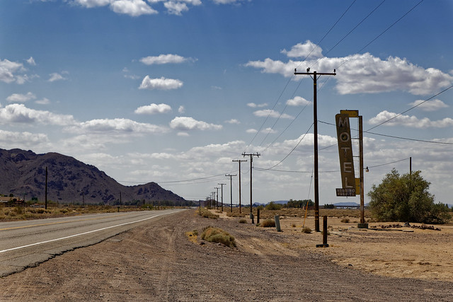 Along Route 66 in the Mojave desert