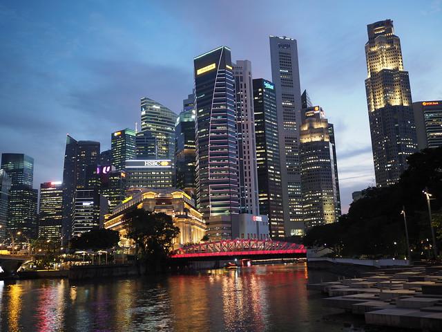 Singapore CBD in Golden Hour (explore)
