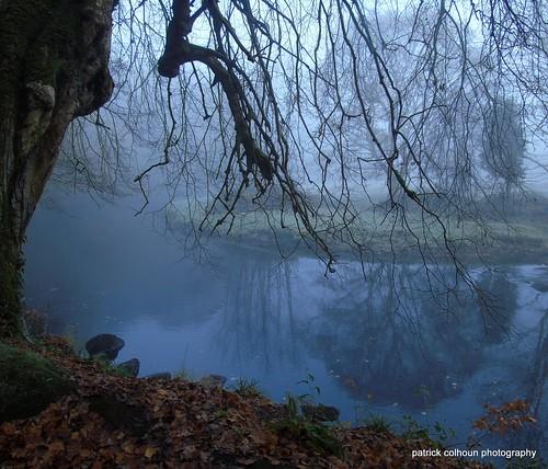 mist cranariver nature landscape buncrana donegal ireland reflection countydonegal fog trees sonydsch400