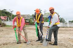 Ground Breaking: Dr. Figueroa, Minister Natali, Dr. Kenrick Leslie