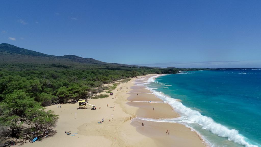 Luftbildaufnahme Makena Big Beach, Maui Hawaii | dronepicr | Flickr